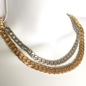 Jewelry - Gold and Silvertone Necklace